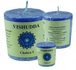 Chakra Votive Candle - 5th Chakra - Throat - Blue - Moroccan Rose & Chamomile